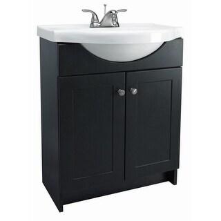 "Design House 541680 24"" Freestanding Vanity Cabinet with Marble Vanity Top - Espresso"