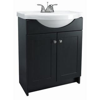 Design House 541680 24 Freestanding Vanity Cabinet With Marble Top Espresso