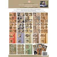 Pollyanna Pickering Sketchbook A4 Die-Cut Decoupage Sheets-Ch.5 British Wildlife Assorted