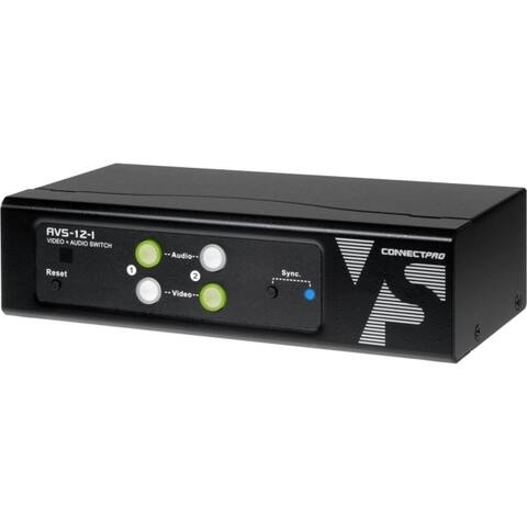 Connectpro avs-12-i 2port a/v vga switch enables
