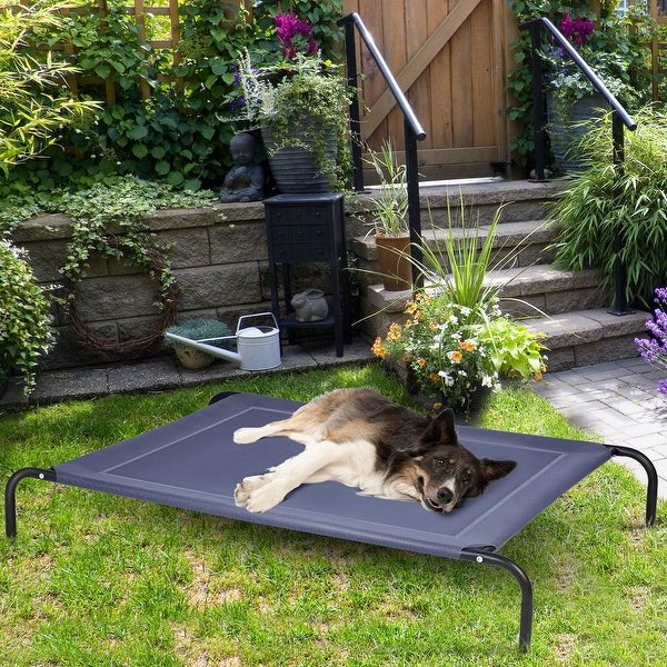 Large Dog Bed Elevated Outdoor Raised Pet Cot Indoor Durable Steel Frame