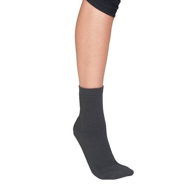 Unisex-Adult Neuropathy Gel Footbed Crew Socks