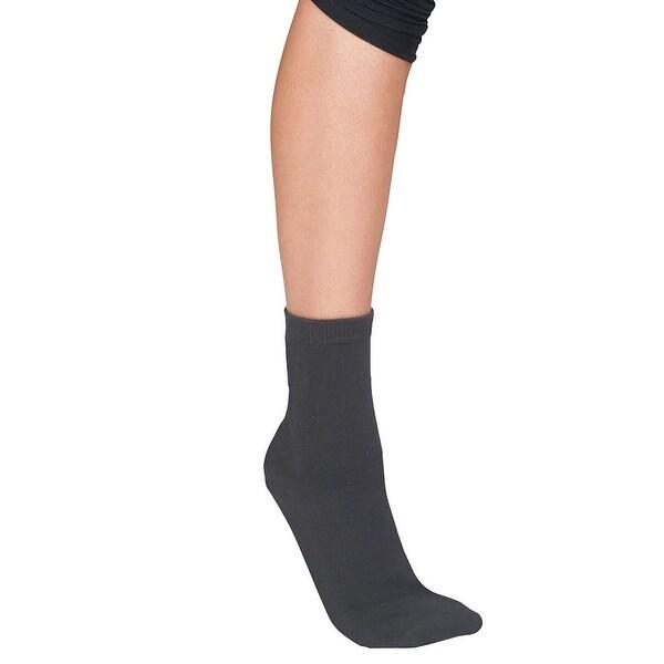 Women's Neuropathy Gel Footbed Crew Socks