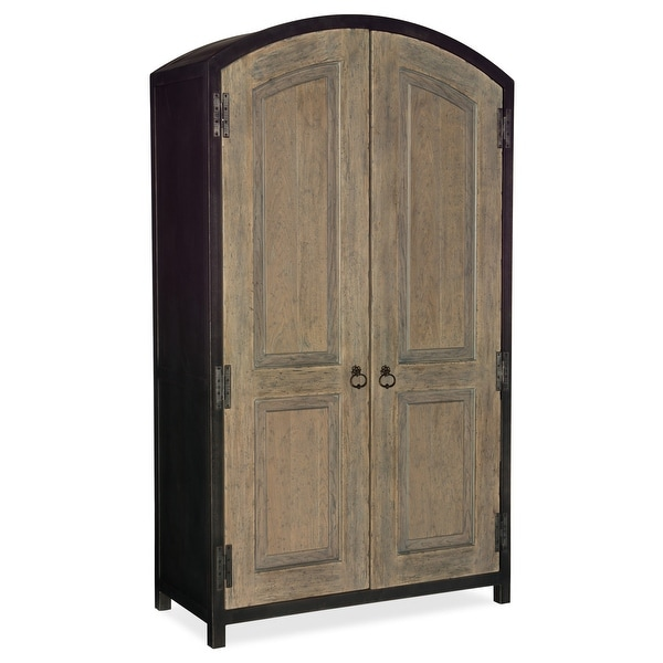 "Hooker Furniture 5751-90013 50"" Wide 2 Drawer Rubberwood and White Oak Wood Armoire from the Beaumont Collection"