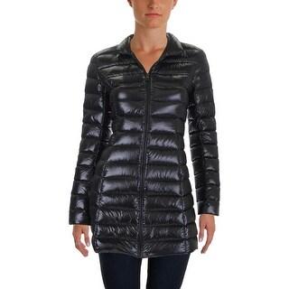 Aqua Womens Packable Coat Puffer Long Sleeves - S