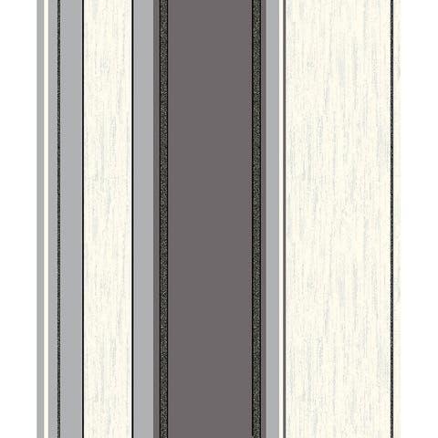 Mirabelle Black Stripe Wallpaper - 20.5 x 396 x 0.025