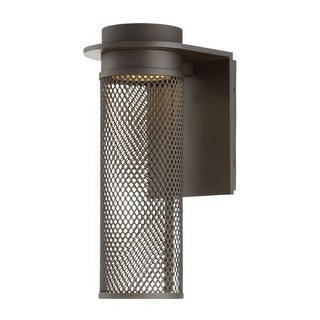 """WAC Lighting WS-W43715 Mesh Single Light 15"""" High Integrated LED Outdoor Wall Sconce"""