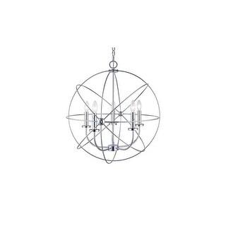 "Canarm ICH282B0525 Summerside 5 Light 25"" Wide Taper Candle Globe Chandelier"