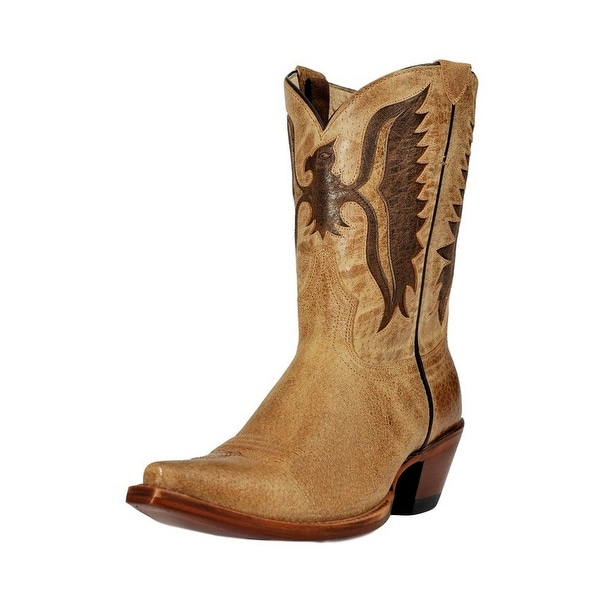 Johnny Ringo Western Boots Womens Shorty Fashion Eagle Tan