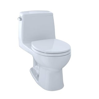 Toto MS853113E Eco UltraMax One Piece Round 1.28 GPF Toilet with E-Max Flush System - Seat Included
