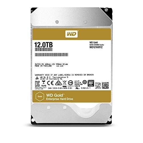 "Wd Wd121kryz 12Tb Gold 7200 Rpm Sata Iii 3.5"" Internal Data Center Hdd"
