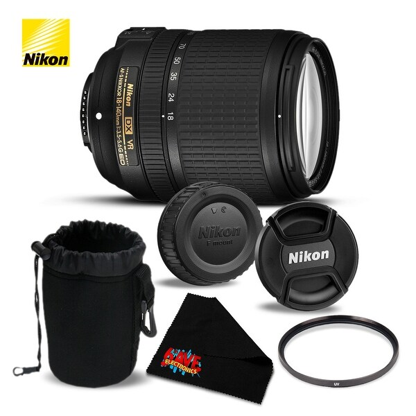 Nikon AF-S DX NIKKOR 18-140mm f/3.5-5.6G ED VR Lens (Intl Model)- Bundle