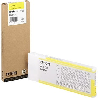 Epson UltraChrome K3 Ink Cartridge - 220ml Yellow (T606400)