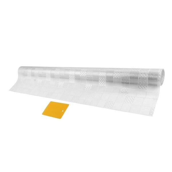 PVC Plaid Pattern 3D Anti UV Static Cling Window Films 78.7-inch by 23.6-inch