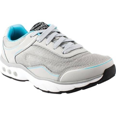 Therafit Women's Clarissa Walking Shoe Grey Vegan Leather