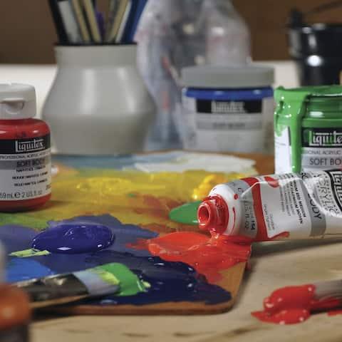 Liquitex Heavy Body Acrylic Paint, Cerulean Blue Hue, 2 Ounce Tube