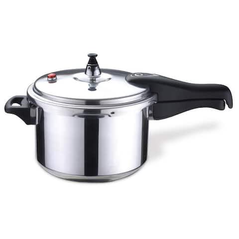 Bene Casa 4.2-Quart capacity aluminum pressure cooker, polished aluminum finish,