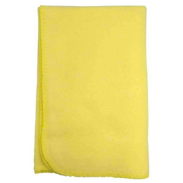 Bambini Blank Yellow Polarfleece Blanket - Size - 30x40 - Unisex