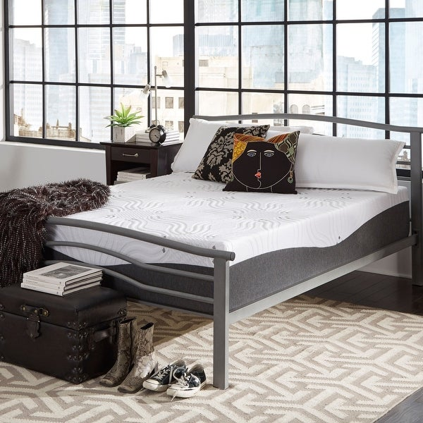 ComforPedic from Beautyrest Choose Your Comfort 14-inch NRGel Memory Foam Mattress - White. Opens flyout.