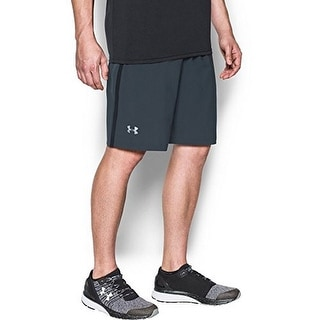 Under Armour Mens Launch Stretch Woven 9 Inch Short, Charcoal, XL