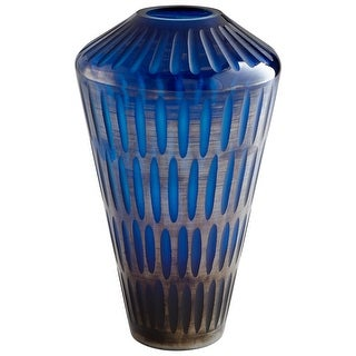 "Cyan Design 09496  Toreen 8-3/4"" Diameter Glass Vase - Blue"
