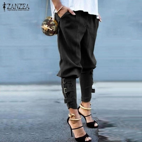 d91922cc897a Zanzea Women 2018 Summer Autumn Women Harem Pants Casual Loose Elastic  Waist Long Pants Leisure Trousers