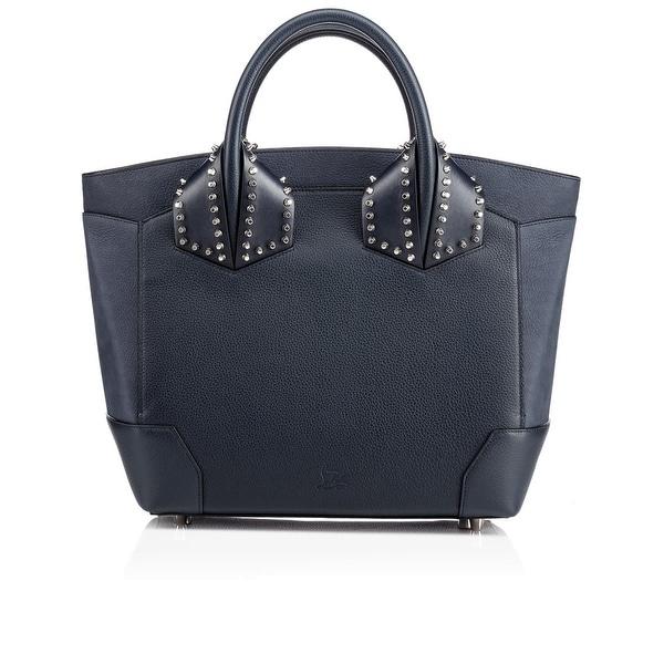 fee3ca13545 Christian Louboutin Womens Eloise Black Navy Blue Studded Leather Tote Bag