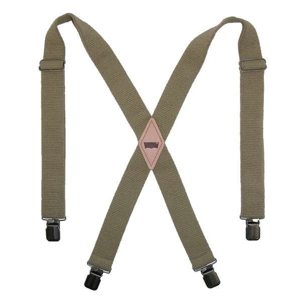 Levis Men's Terry Elastic 1 1/2 Inch Clip-End Suspenders