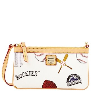 Dooney & Bourke MLB Rockies Large Slim Wristlet (Introduced by Dooney & Bourke at $88 in Feb 2014) - White