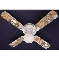 Children's Baby Safari Animals 42in Ceiling Fan Light Kit - Multi