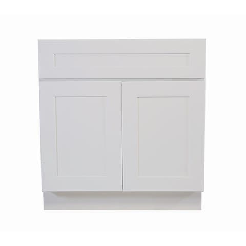 """Design House 561506 Brookings 42"""" Wide x 34-1/2"""" High Double Door Base Cabinet with Nonfunctional Drawer"""