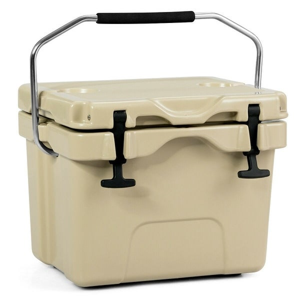 16 Quart Portable Ice Cooler with 24 Cans. Opens flyout.