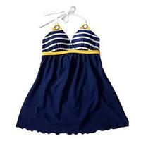 a2ce0271c4 Women's Swimwear Ladies Sailor Style Skirt Beach Swimming Wear Swim Dress