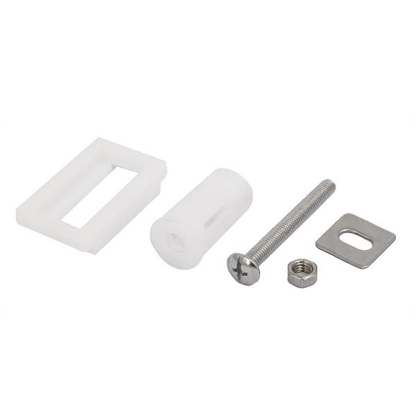 Excellent 5Mm Dia Thread Pp Stainless Steel Toilet Seat Hinge Bolt Screw White 2Pcs Pdpeps Interior Chair Design Pdpepsorg