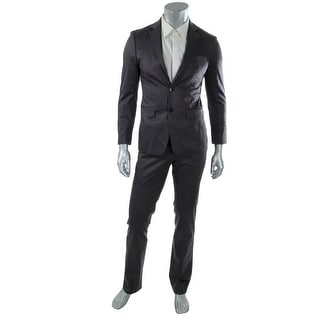 Calvin Klein Mens Poplin Extreme Two-Button Suit - 42L