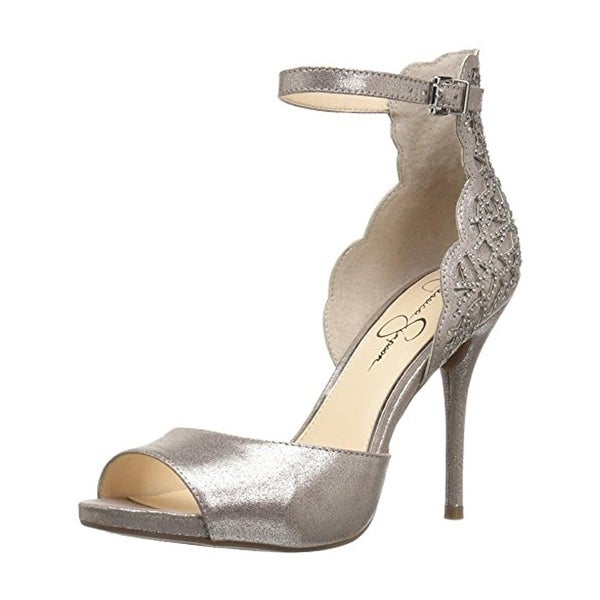 Jessica Simpson Womens Bellona Evening Heels Embellished