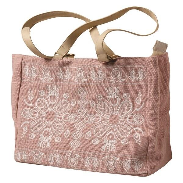 66800e399a09 Shop Sun N  Sand Women s Tote Bag - Embroidered Folk Art Print Large ...