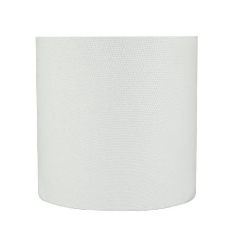 "Aspen Creative Drum (Cylinder) Shaped Spider Construction Lamp Shade in White (8"" x 8"" x 8"")"