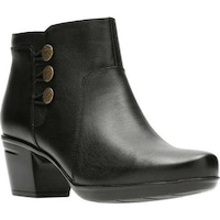 6f05ef4b169 Shop Clarks Women s Petula Sadie Cap Toe Shoe Black Full Grain ...