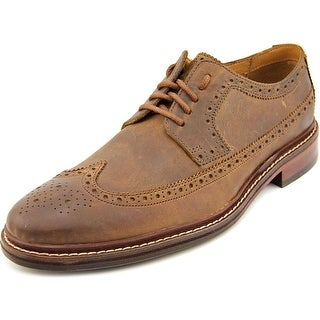 Cole Haan Williams Welt Long Wing II Men Wingtip Toe Leather Tan Oxford
