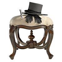 Countess Maria's French Ottoman Stool DESIGN TOSCANO european  furniture  chair