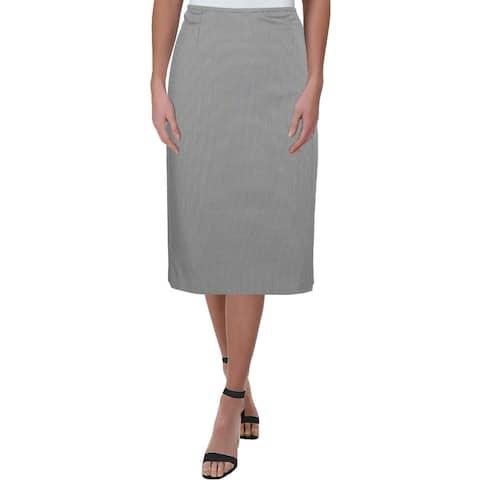 Le Suit Womens Nantucket Pencil Skirt Seersucker Office - 10