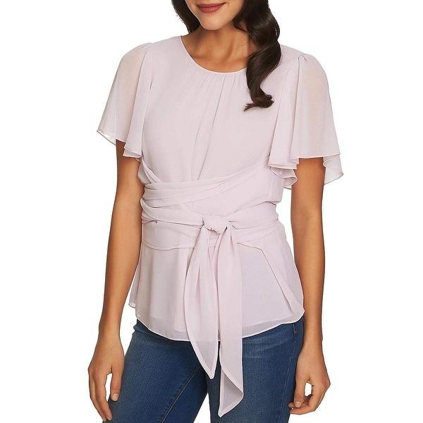 19b5f594 Shop 1. State Purple Sugar Plum Women's Size Large L Tie-Front ...