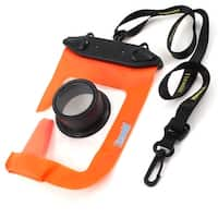 External Lens Protector Water Resistance Orange Pouch Bag + Black Strap