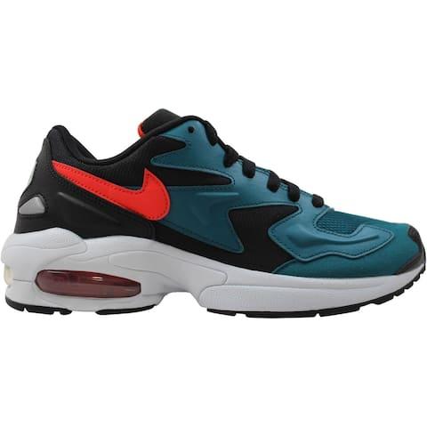 Nike Air Max2 Light Black/Habanero Red-Geode Teal AO1741-004 Men's