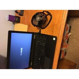 USB Mini Desktop Black Metal Cooling Fan with Adjustable Direction