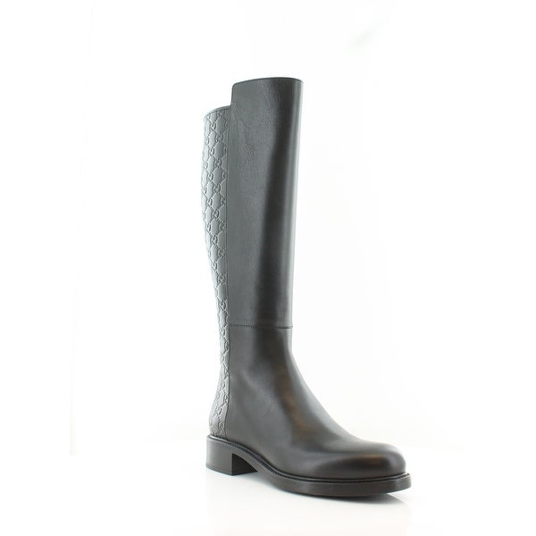 8f06279514e Shop Gucci Liza Tall Women s Boots Nero Nero - Free Shipping Today ...