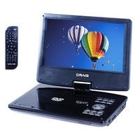Craig CTFT713 9 in. Swivel Screen Portable DVD & CD Player