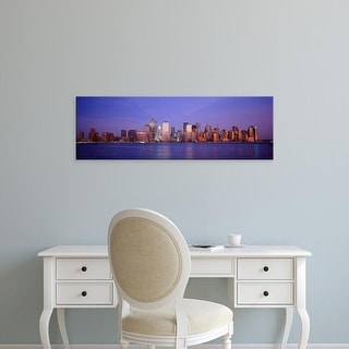 Easy Art Prints Panoramic Images's 'Skyscrapers in a city, Manhattan, New York City, New York, USA' Premium Canvas Art