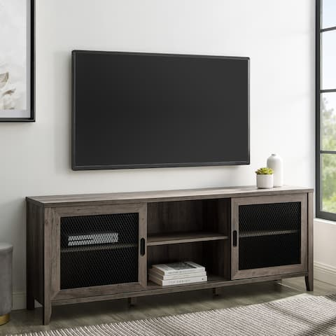 The Gray Barn 70-inch Sliding Mesh Door TV Console